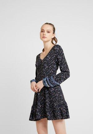 SHORT DRESS - Vestido informal - black ditsy