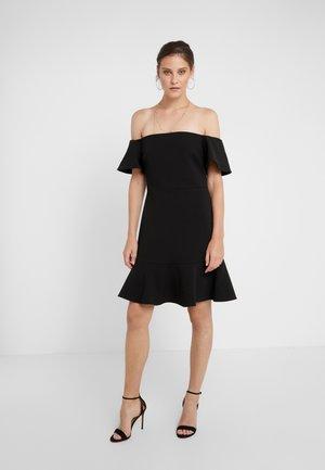 OFF SHOULDER DRESS - Cocktail dress / Party dress - black