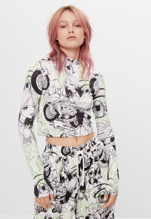 MIT COMICPRINT BILLIE EILISH X BE RSHKA  - Long sleeved top - white