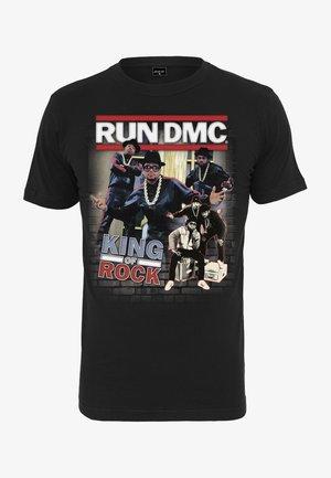 RUN DMC KING OF ROCK - T-shirt imprimé - black