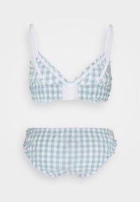 Monki - BIBBI BRA AND BRIEF SET - Bikini - blue - 1
