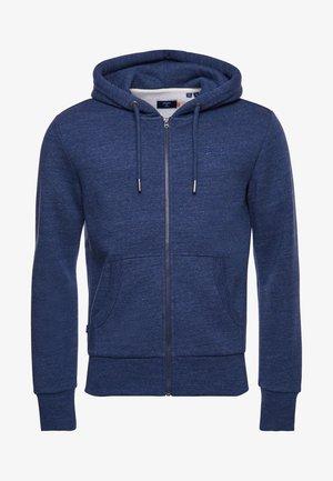 LABEL CLASSIC - Zip-up sweatshirt - dark blue