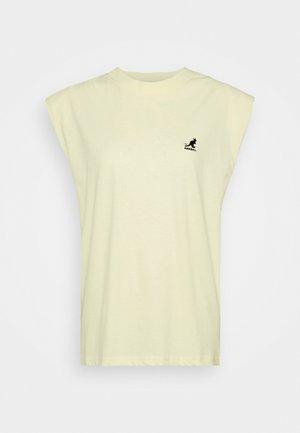 QUEENS TANK - T-shirt print - pale yellow