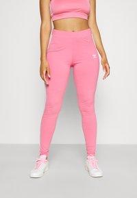 adidas Originals - STRIPES COMPRESSION - Leggings - Trousers - rose tone - 0