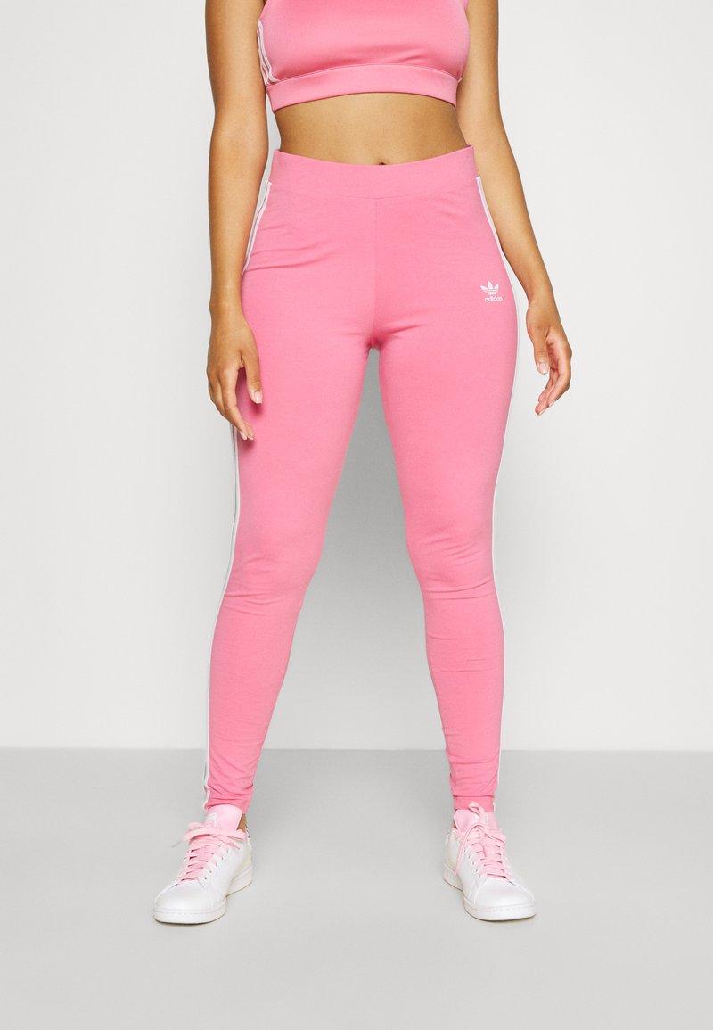 adidas Originals - STRIPES COMPRESSION - Leggings - Trousers - rose tone