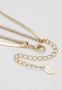 Orelia - CUPCHAIN FLAT SNAKE CHAIN 2 ROW - Náhrdelník - pale gold-coloured - 2