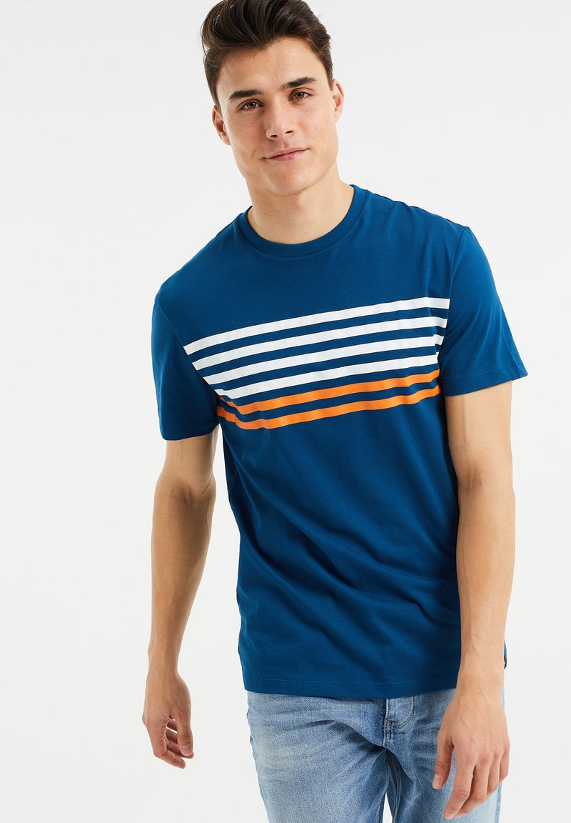 WE Fashion - Print T-shirt - navy blue