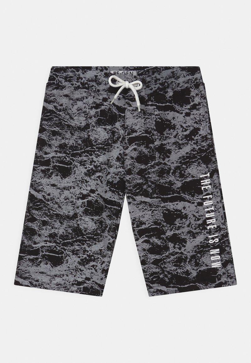 Re-Gen - TEEN BOYS  - Shorts - black/white