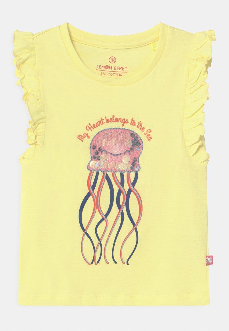 Lemon Beret - SMALL GIRLS - T-shirt print - yellow pear