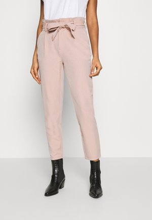 ONLLONZO PAPERBAG BELT PANT - Trousers - misty rose