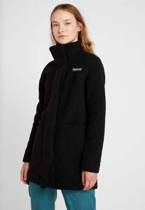 PANORAMA LONG JACKET - Giacca in pile - black