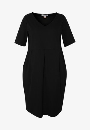 BASIC JERSEY DRESS - Jerseykjole - black