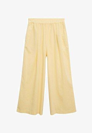 Trousers - pastelgeel
