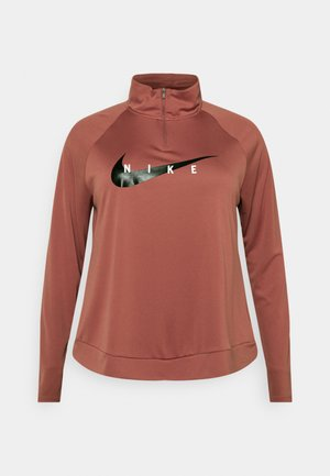 RUN MIDLAYER PLUS - Treningsskjorter - canyon rust/black