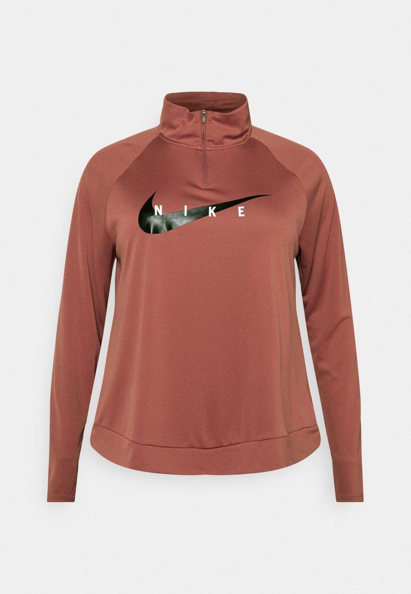 Nike Performance - RUN MIDLAYER PLUS - Sports shirt - canyon rust/black