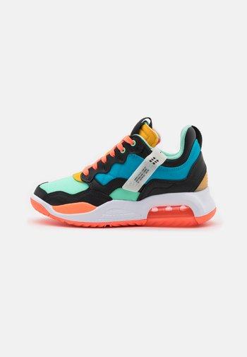 MA2 UNISEX - Basketball shoes - black/light blue fury/green glow/bright mango/university gold/white