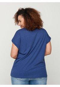 Zizzi - Basic T-shirt - twilight blue mel. - 2