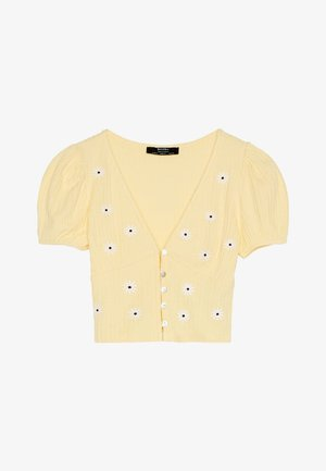 MIT MARGARITENSTICKEREI 01994381 - Blouse - yellow