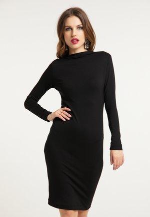 JERSEYKLEID - Pouzdrové šaty - schwarz