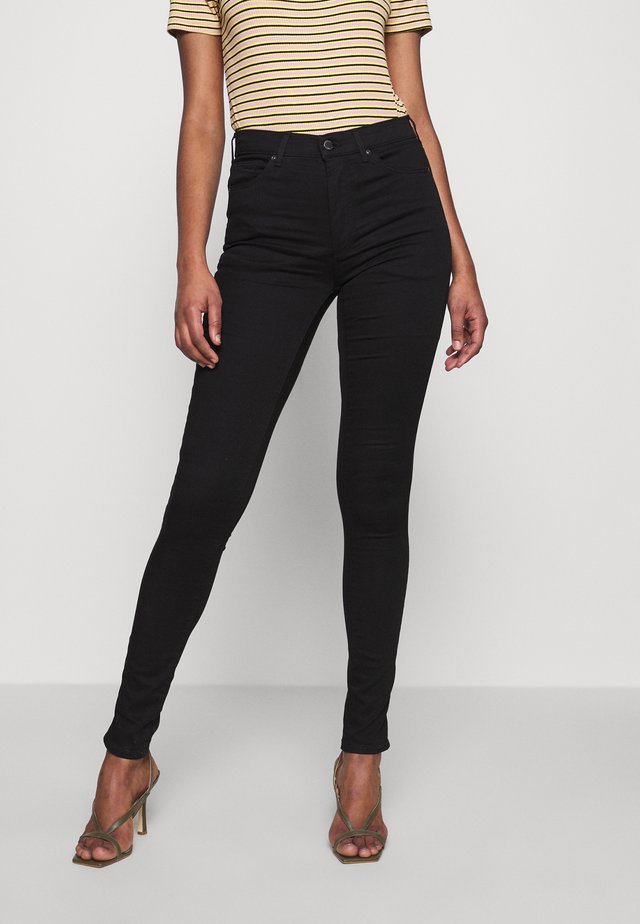 LEIGH CLEAN - Jeansy Skinny Fit - black