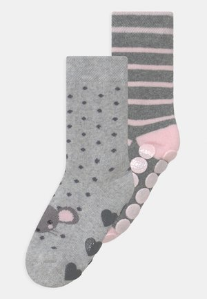 MOUSE 2 PACK UNISEX - Sokken - grey/light pink
