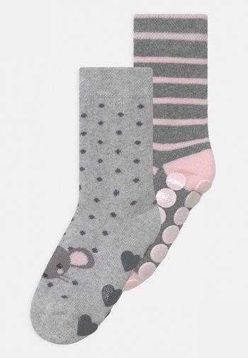 MOUSE 2 PACK UNISEX - Socks - grey/light pink