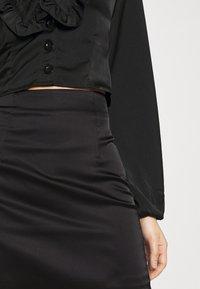 Missguided - SKIRT  - Mini skirt - black - 4