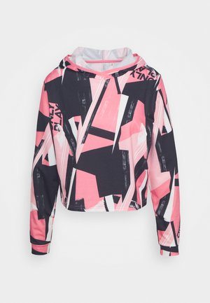 ONPMAUREEN SHORT HOOD - Hoodie - black/strawberry pink