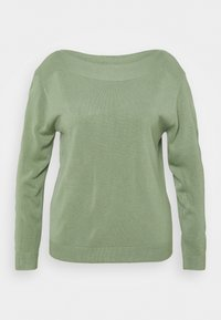 ONLY Carmakoma - CARAMA BOATNECK - Pullover - hedge green - 0