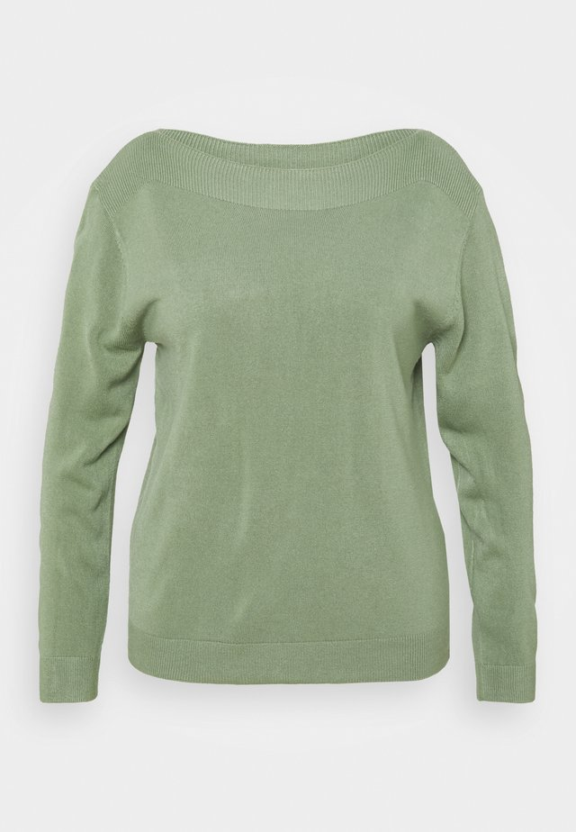 CARAMA BOATNECK - Trui - hedge green