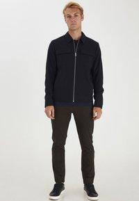 Casual Friday - BOBBY WITH ZIPPER - Light jacket - navy blazer - 1