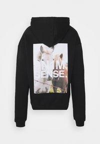 9N1M SENSE - HORSES HOODIE UNISEX - Sweatshirt - black - 1