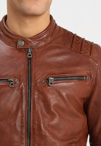 Gipsy - CAMREN LASYV - Leather jacket - cognac - 3