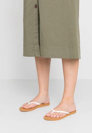 COSTAS - T-bar sandals - white