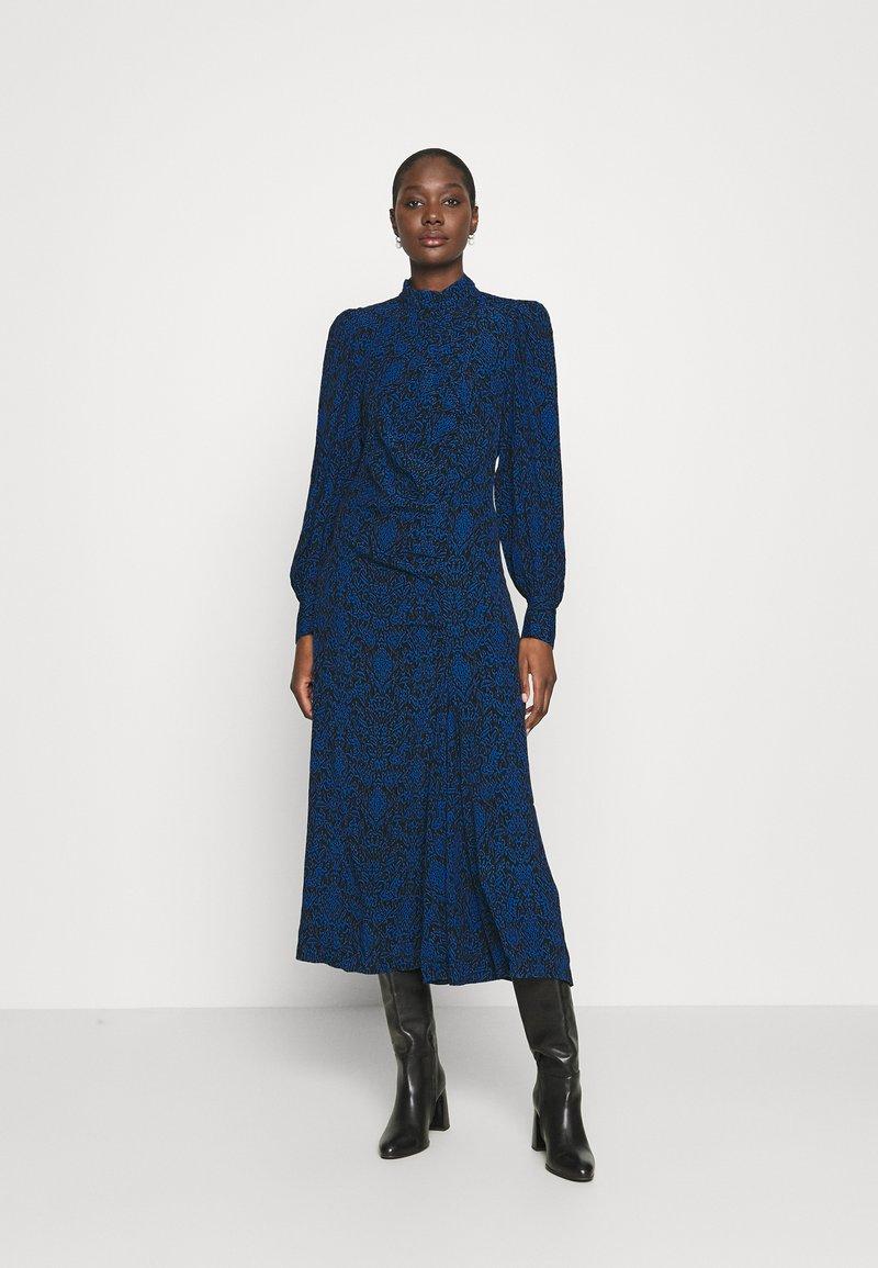 Gestuz - LORALIGZ MIDI DRESS - Day dress - blue/black vintage