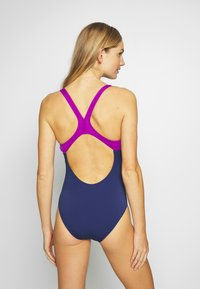 Arena - OPTICAL WAVES SWIM PRO BACK ONE PIECE - Swimsuit - navy/provenza - 2