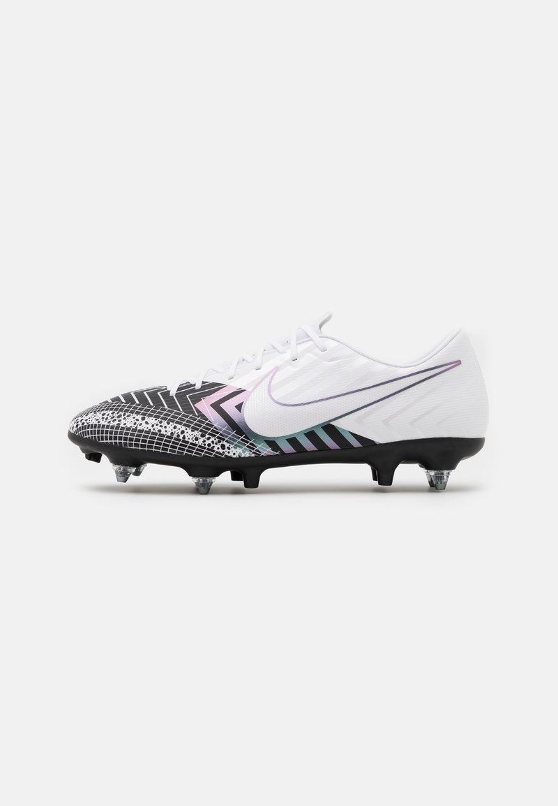 Nike Performance - MERCURIAL VAPOR 13 ACADEMY MDS SG-PRO AC - Screw-in stud football boots - white/black
