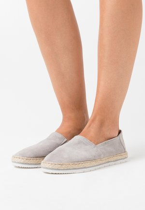LEATHER - Loafers - grey