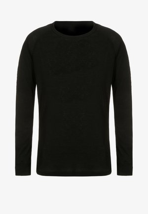 CREW NECK WARM KIDS - Undershirt - black