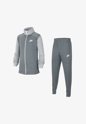 CORE FUTURA SET - Tracksuit - smoke grey/light solar flare heather/white/white