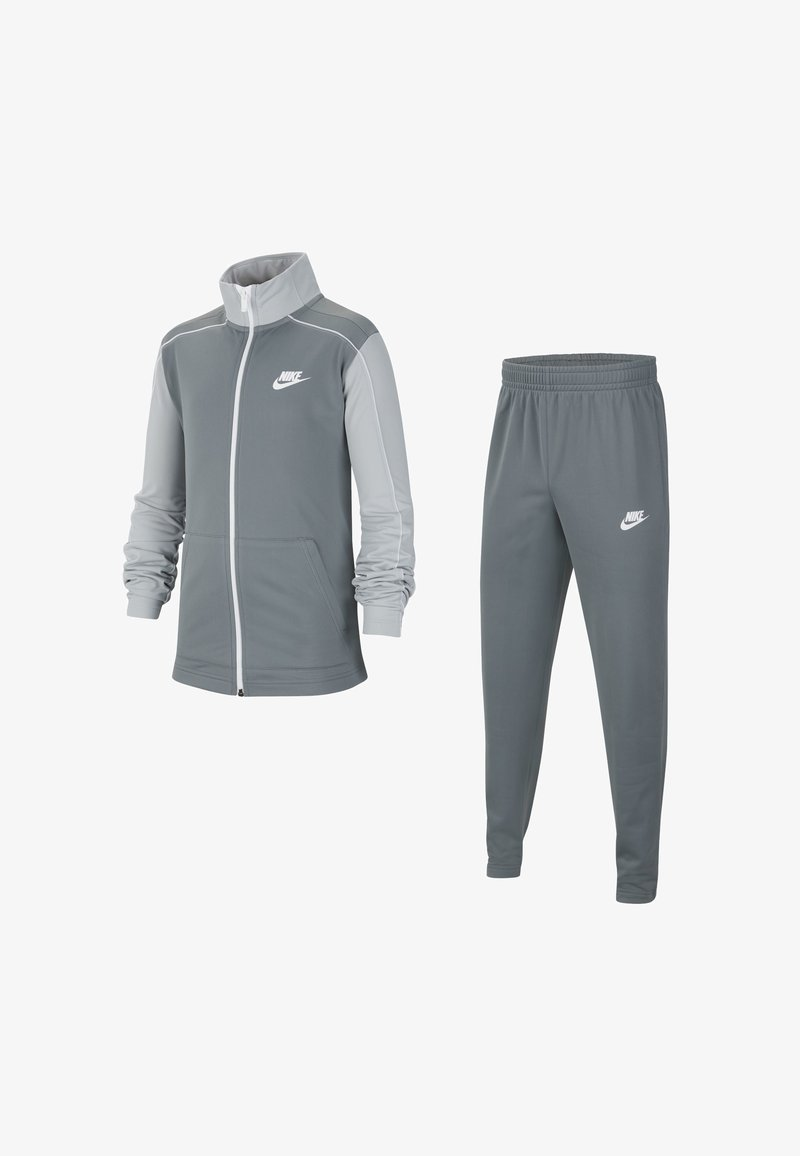 Nike Sportswear - CORE FUTURA SET - Survêtement - smoke grey/light solar flare heather/white/white