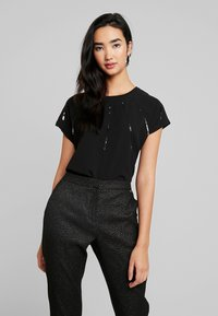 ONLY - ONLLOUISA SEQUINS - Blouse - black - 0