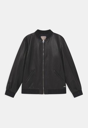 JUNIOR - Faux leather jacket - jet black
