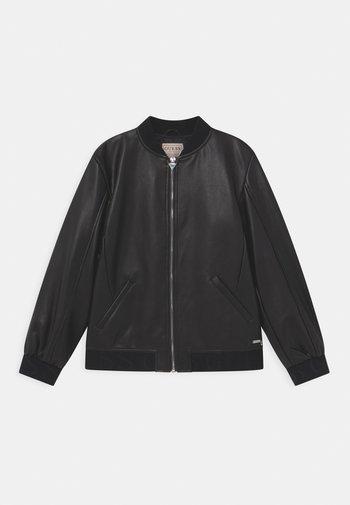 JUNIOR - Faux leather jacket - jet black