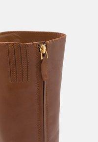 Lauren Ralph Lauren - BRADLEIGH TALL BOOT - Boots - deep saddle tan - 5