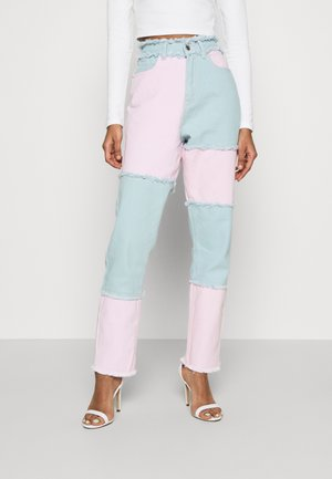 FRAYED COLOURBLOCK  - Jeans Skinny Fit - pink