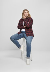 Urban Classics - OVERSIZED  - Button-down blouse - midnightnavy/red - 8