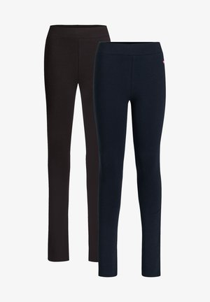 2 PACK - Leggings - blue black