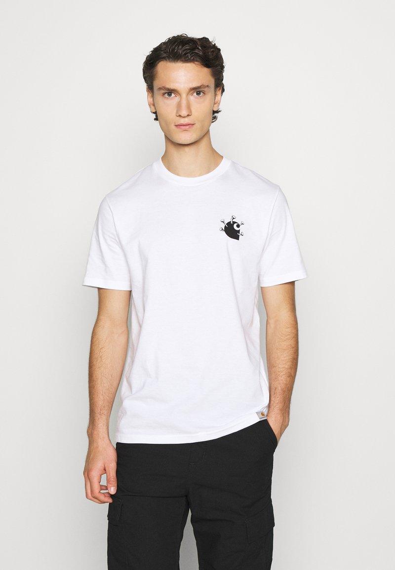 Carhartt WIP - NAILS - Print T-shirt - white/black