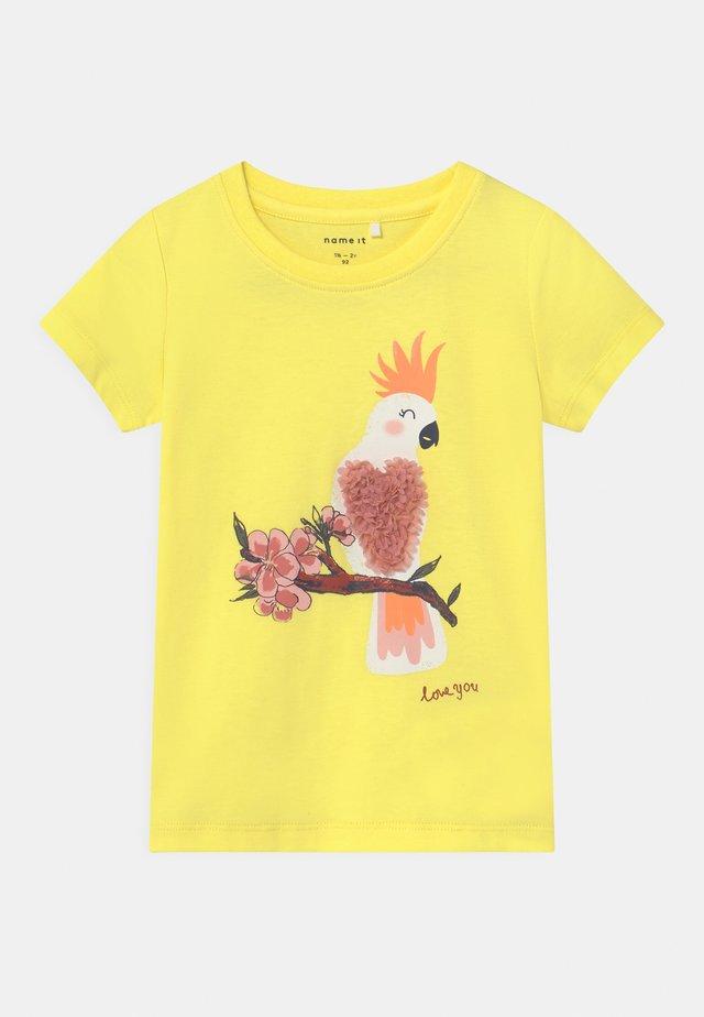 NMFJAKOBE  - T-shirts print - lemon verbena